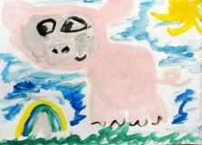 """Сеня """"Поросёнок радуется радуге, увидел в ней свой розовый цвет"""""""