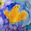 Саша Цыплёнок хочет подружиться с солнышком