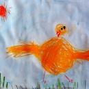 Женя Цыплёнок играет с солнышком в прятки