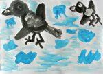 Максим Л Ворона учит птенчика летать